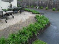 patio landscape after